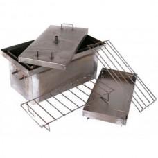 Коптильня горячего копчения для рыбы и мяса, средняя, 2 мм