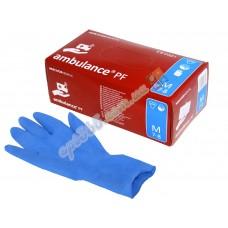 Перчатки латексные Ambulance PF, (S)