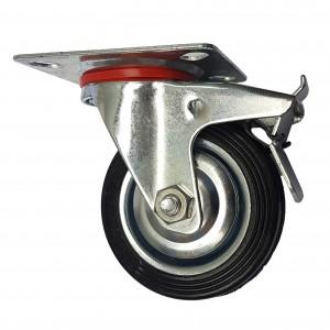 Колесо поворотное с тормозом 75 мм