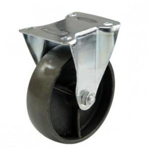 Колесо чугунное с кронштейном 100 мм