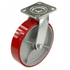 Колесо поворотное полиуретан 200 мм