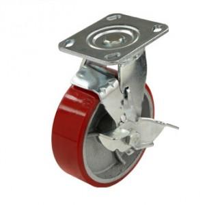 Большегрузное колесо с тормозом 150 мм