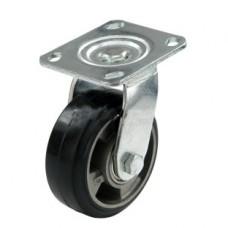 Колесо алюминиевое с кронштейном поворотным 125 мм