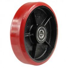 Колесо чугунное для тележки с полиуретаном 200 мм