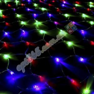 Гирлянда светодиодная Сетка (паутина), 1.5*1.5 м, 120 led, цветная
