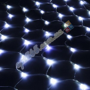 Гирлянда светодиодная Сетка (паутина), 1.5*1.5 м, 120 led, белая
