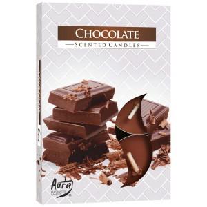 Ароматизированные свечи Шоколад Bispol, 6 штук