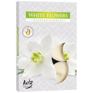 Ароматизированные свечи Белые цветы Bispol, 6 штук
