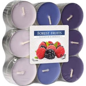 Ароматизированные свечи Лесные фрукты Bispol, 18 штук