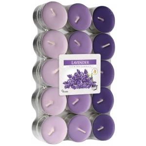 Ароматизированные свечи Лаванда Bispol, 30 штук