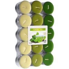 Арома свечи Зелёный чай Bispol, 30 штук