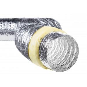 Воздуховод гибкий изолированный Флекс 7.6 метров, 150 мм.