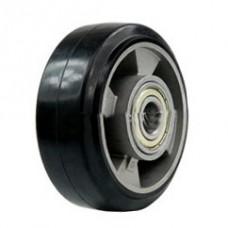 Колесо с алюминиевым диском 100 мм.