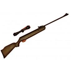 Пневматическая винтовка Crosman Fury NP, газовая пружина, оптический прицел