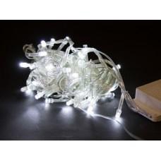 Гирлянда белая, 100 LED 5 мм, прозрачный провод
