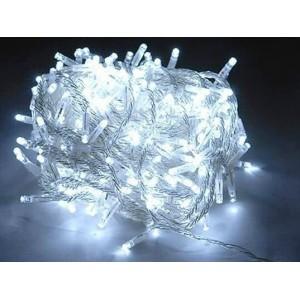 Гирлянда белая, 200 LED 5 мм, прозрачный провод