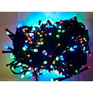 Гирлянда цветная, 100 LED 5 мм, черный провод