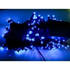 Гирлянда синяя, 100 LED 5 мм, черный провод