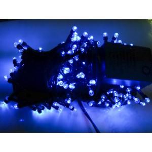 Гирлянда синяя, 400 LED 5 мм, черный провод