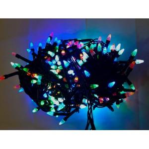 Гирлянда Ёлка цветная, 200 LED, черный провод