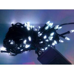 Гирлянда Ёлка белая, 100 LED, черный провод
