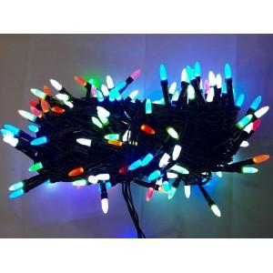 Гирлянда Иголка цветная, 200 LED, черный провод