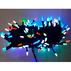 Гирлянда Иголка цветная, 300 LED, черный провод
