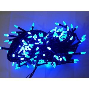 Гирлянда Иголка синяя, 100 LED, черный провод