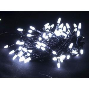 Гирлянда Иголка белая, 100 LED, черный провод