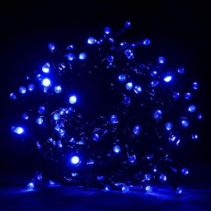 Гирлянда Лиза синяя 100 LED 5 мм, черный провод