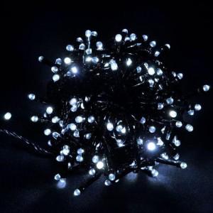 Гирлянда Лиза белая 100 LED 5 мм, черный провод