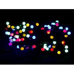 Гирлянда Матовая цветная, 200 LED 5 мм, черный провод