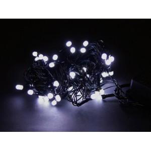 Гирлянда Матовая белая, 100 LED 5 мм, черный провод