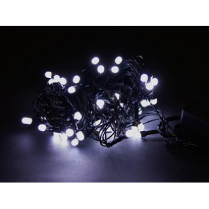 Гирлянда Матовая белая, 200 LED 5 мм, черный провод