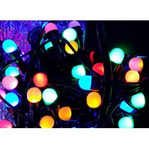 Гирлянда Ягода цветная, 200 LED 8 мм, черный провод
