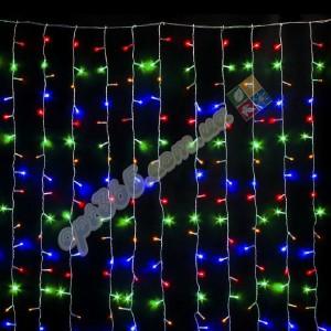 Гирлянда Штора цветная 2х2 м, 240 LED 5 мм