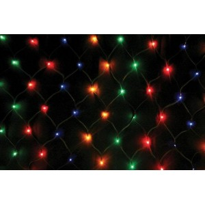Гирлянда Сетка цветная 1.5х1.5 м, 160 LED 5 мм, черный провод