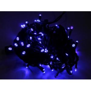 Гирлянда уличная синяя, 100 LED 5 мм, 10 метров, черный провод