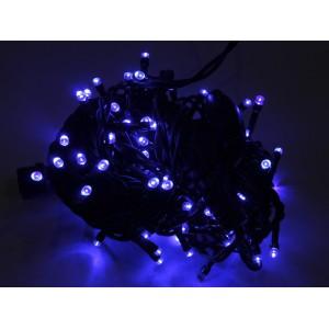 Гирлянда уличная синяя, 200 LED 5 мм, 16 метров, черный провод