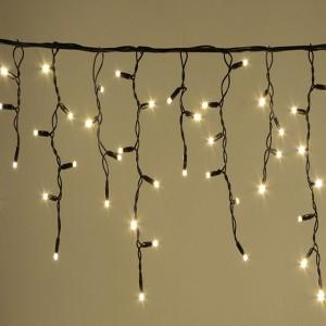 Гирлянда уличная Бахрома тепло-белая, 100 LED 5 мм, 3 метра, черный провод