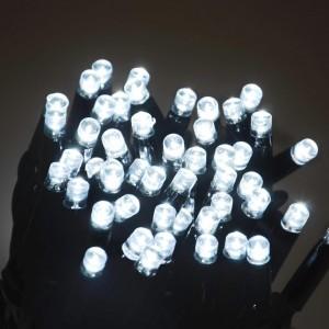 Гирлянда уличная белая, 100 LED 8 мм, 10 метров, черный провод