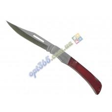 Нож складной в чехле, большой, пластиковая ручка, бордо, 26.5 см