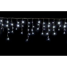 Гирлянда Бахрома белая, 120 LED, прозрачный провод