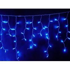 Гирлянда Бахрома синяя, 120 LED, прозрачный провод