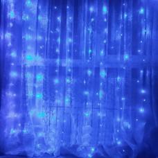 Гирлянда Водопад синяя 2х2 м, 240 LED, 8 мм