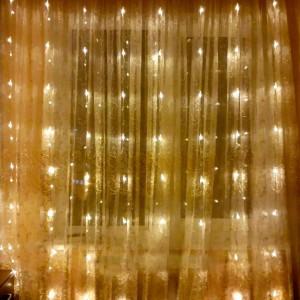 Гирлянда Водопад тепло-белая 2х2 м, 240 LED, 8 мм