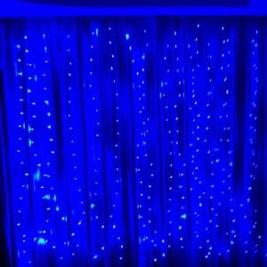 Гирлянда Капля-Штора 3х1.5 м, 300 mini LED, синяя