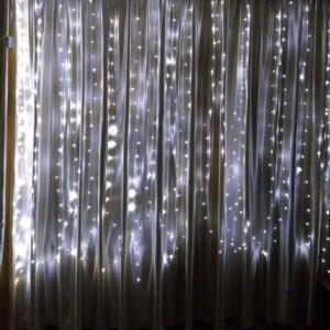 Гирлянда Капля-Штора 3х2 м, 360 mini LED, белая