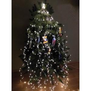 Гирлянда Конский хвост, 300 mini LED, тепло-белая