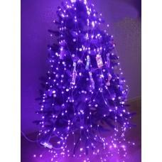 Гирлянда Конский хвост, 300 mini LED, фиолетовая